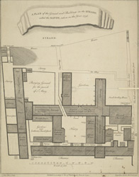 A plan of the ground and building in the Strand called the Savoy, taken in the year 1736